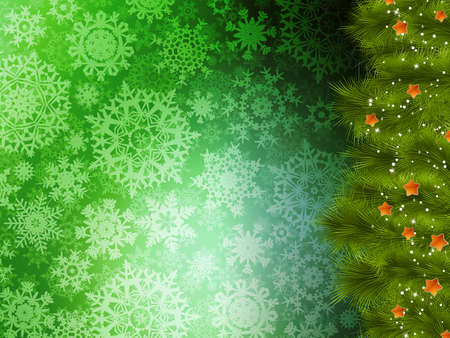 serpentines: Christmas background with tree. EPS 10 vector file included Illustration