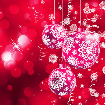 trumpery: Background with stars and Christmas balls. EPS 10 vector file included