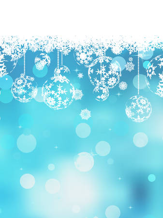 christmas blue: Christmas blue background with snow flakes. And also includes EPS 10 vector