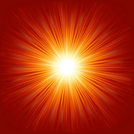 laser radiation: Star burst red and yellow fire. EPS 10 vector file included