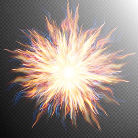Explosion, big bang, fire burst. EPS 10 vector file included