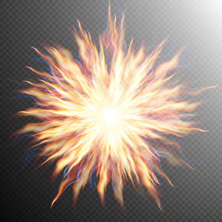 detonation: Explosion, big bang, fire burst. EPS 10 vector file included