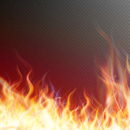 flame background: Blaze fire flame texture on transparent background. EPS 10 vector file included