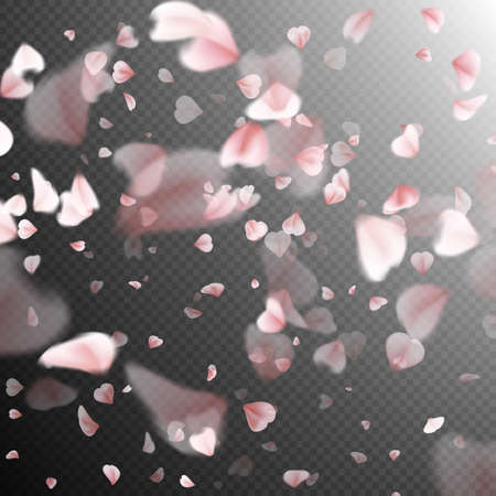 Falling sakura pink petals background. EPS 10 vector file included 일러스트