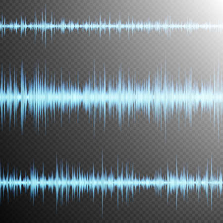 vibrations: Equalizer, Sound wave, colorful musical bar. Transparent background. EPS 10 vector file included Illustration