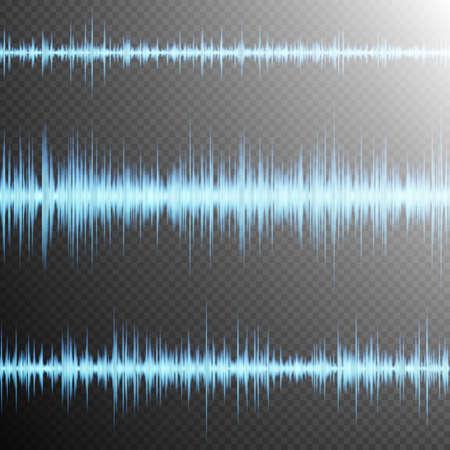 vibrations: Equalizer, Sound wave, colorful musical bar. Transparent background. EPS 10 vector file included Illustration