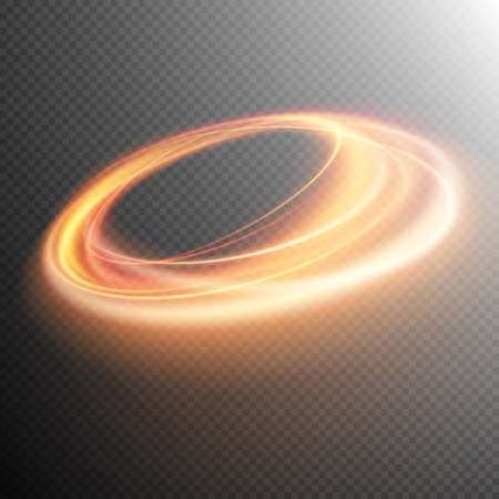 light effect: Light effect, gold line, light effect swirl, light background, light spark, glowing effect, light glow, Glowing fire ring trace effect. vector file included Illustration