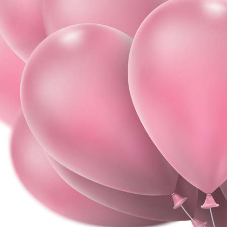red balloons: Flying realistic Pink glossy balloons holiday celebration elements. Balloons red. Ballons design. Balloons template. Balloons bunch. Balloons composition.  vector file included