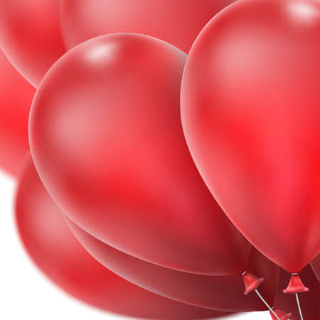 red balloons: Flying realistic red glossy balloons holiday celebration elements. Balloons red. Ballons design. Balloons template. Balloons bunch. Balloons composition.  vector file included