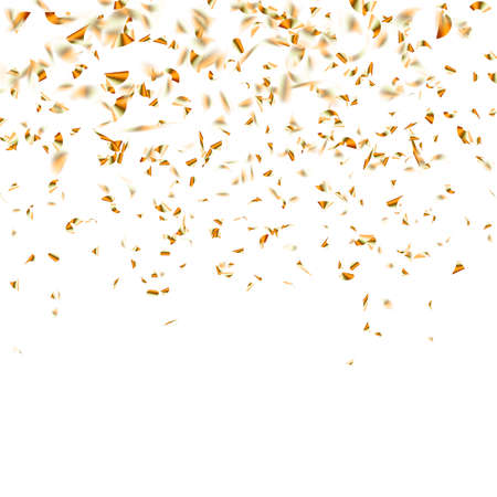Festive glittering gold confetti falling. vector file included