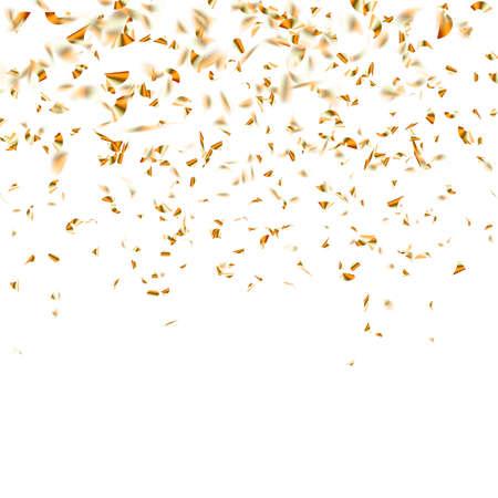 Uroczysta błyszcząca złocista konfetti spada. Plik wektorowy w zestawie Ilustracje wektorowe