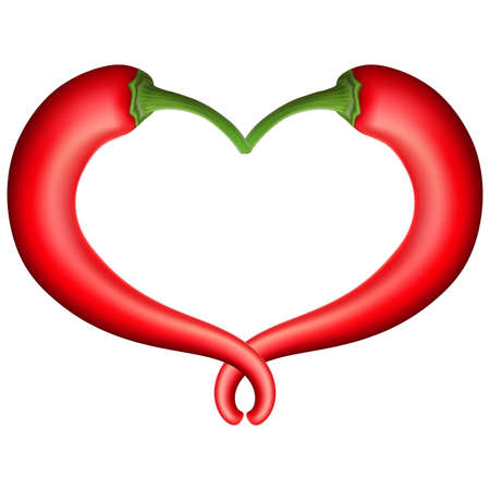 chili pepper: Chili Pepper Heart. Passion and Love Symbol.vector file included