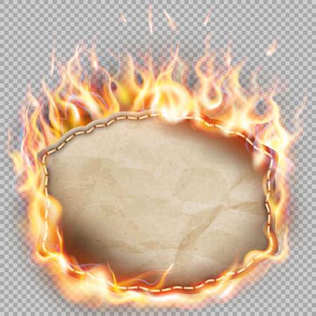 burning paper: Burning paper banner.