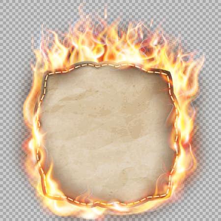 etiqueta de fuego caliente de la venta aislada. Ilustración de vector
