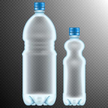 soda bottle: Plastic bottles isolated on transparent background.