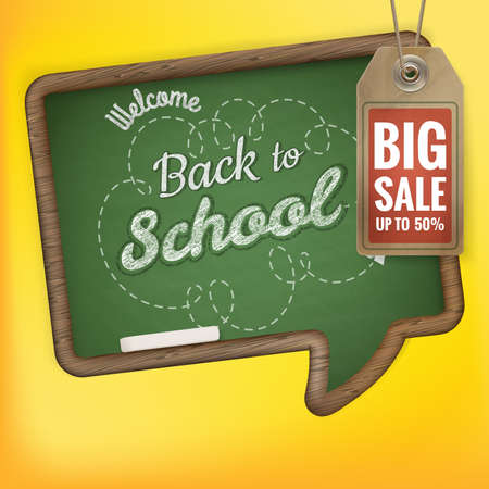 accessory: Back to School sale background.