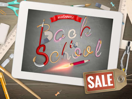school: Back to School sale background.