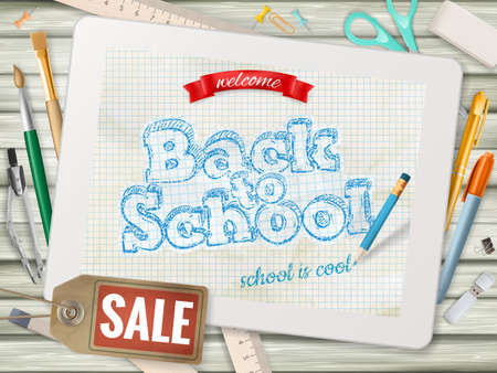 back to back: Back to School sale background.