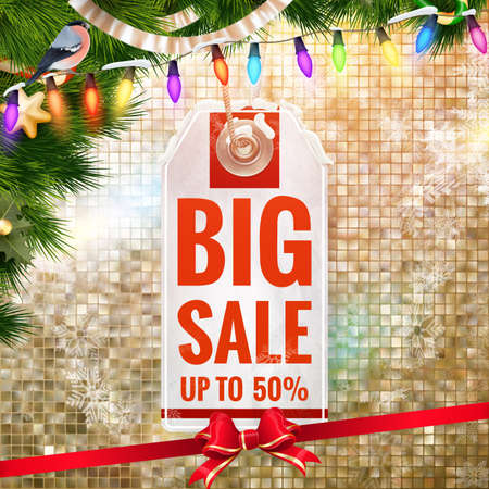christmas sale: Christmas sale design template. Illustration