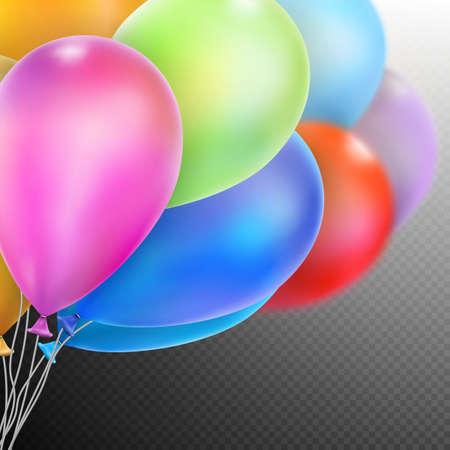 flotation: Balloons isolated. Shallow Dof.