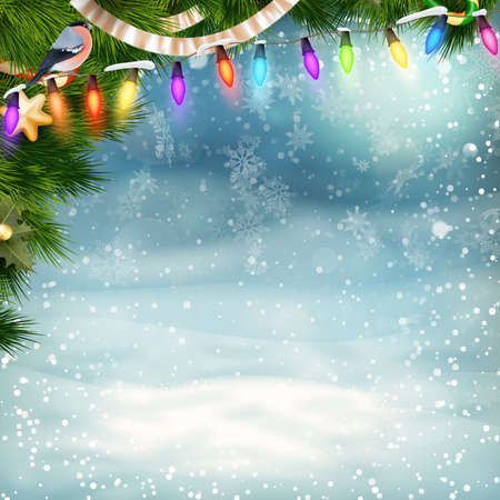 holiday background: Christmas holiday blinking abstract background.