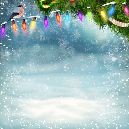 Christmas holiday blinking abstract background.