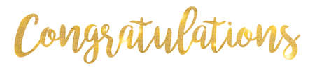 congrats: Congratulations. Hand lettering. Modern brush calligraphy. Handwritten phrase.