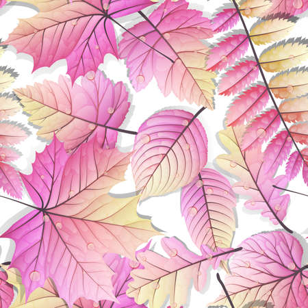 Detailed leaves seamless background.