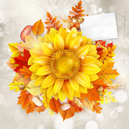 Background on a theme of autumn vector file included Illustration