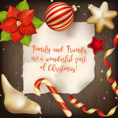 greeting christmas: Merry Christmas greeting card.