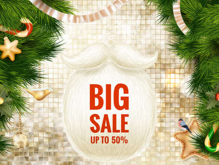 Christmas sale poster. EPS 10 vector file included Illustration