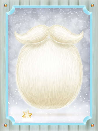 new year decoration: Santa s beard with Happy New Year decoration. EPS 10 vector file included