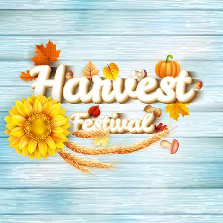 Harvest Festival Poster. EPS 10 vector file included