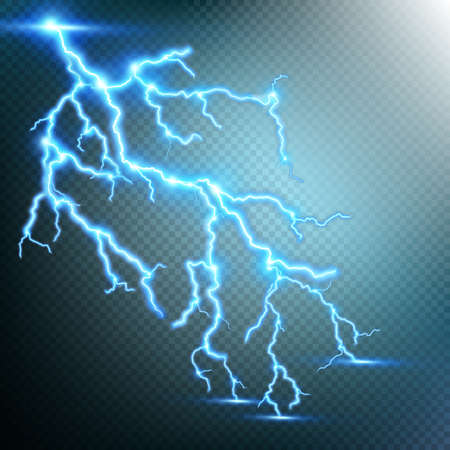 zapping: Thunder-storm and lightnings. EPS 10 vector file