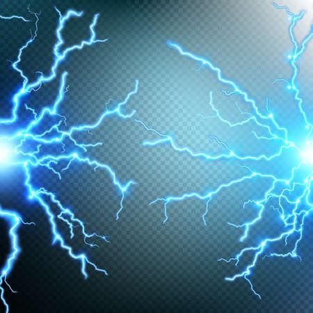 lightnings: Thunder-storm and lightnings. EPS 10 vector file