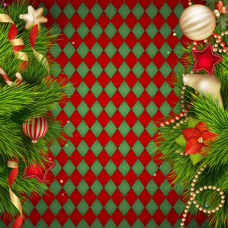 Christmas decoration Background Template.