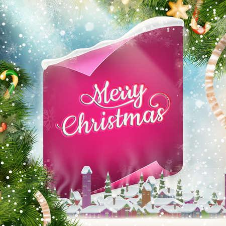 greeting: Merry Christmas greeting card.