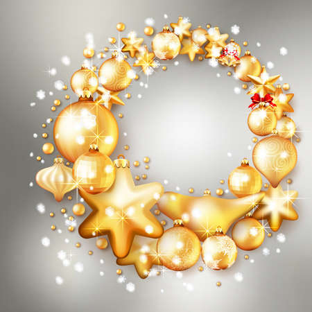 gold christmas background: Beautiful red and gold christmas background. EPS 10 vector file included