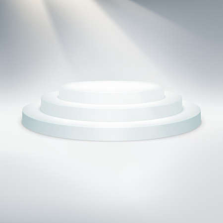 temlate: Temlate of white podium on light background. EPS 10 vector file included Illustration