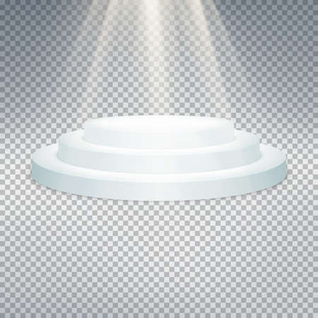 temlate: Temlate of white podium on transparent background. EPS 10 vector file included