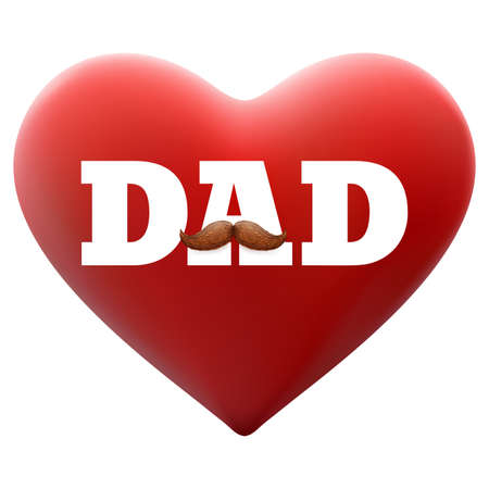 Happy Father s day background with mustache. EPS 10 vector file included