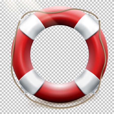 life buoy: Life buoy isolated on transparent background. EPS 10 vector file included