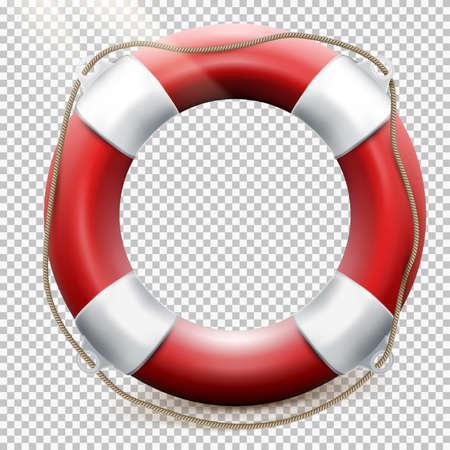 Rettungsring isoliert auf transparentem Hintergrund. EPS 10 Vektor-Datei enthalten Standard-Bild - 67487650