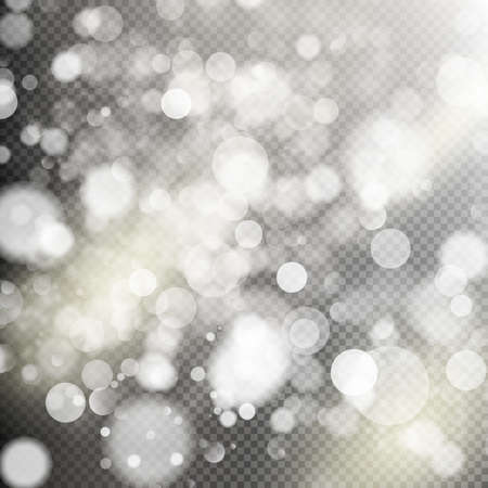bokeh background: Gold bokeh lights and sparkles on transparent background. EPS 10 vector file included