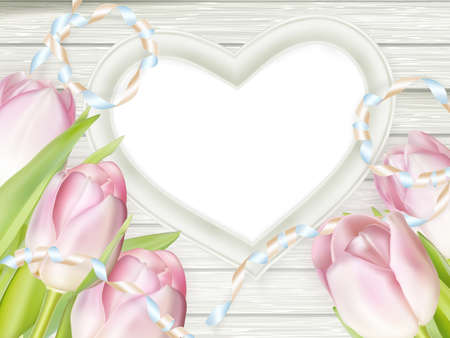 fresh flowers: Pink fresh spring flowers background. EPS 10 vector file included