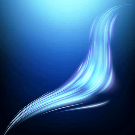 Blue luminous energy wave. EPS 10 vector file included