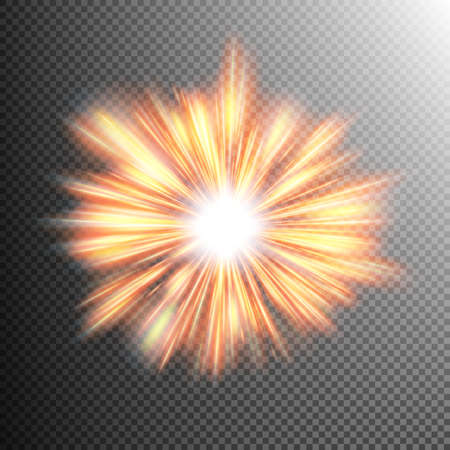 Creative concept glow light effect stars bursts with sparkles isolated on transparent. For illustration template art design, banner for Christmas celebrate, magic flash energy ray. EPS 10 vector file