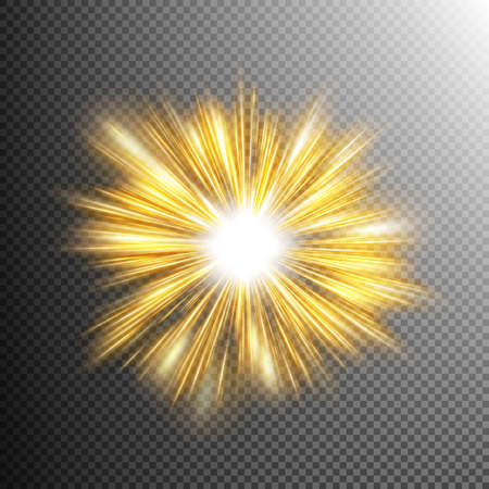light ray: Creative concept glow light effect stars bursts with sparkles isolated on transparent. For illustration template art design, banner for Christmas celebrate, magic flash energy ray. EPS 10 vector file
