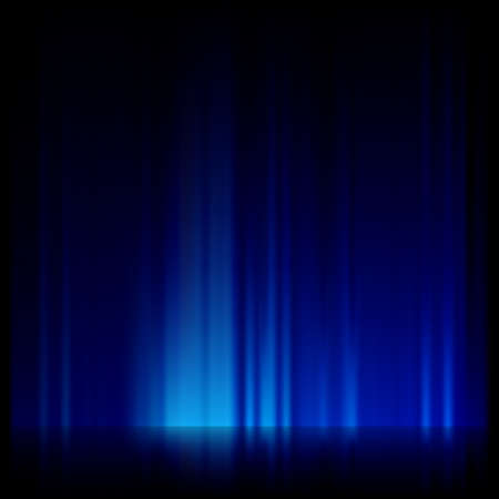 digitally generated image: Digitally generated image of blue light and stripes moving fast over black background. EPS 10 vector file included Illustration