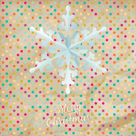 jammed: Christmas polka dot card with snowflake. EPS 10 vector file included